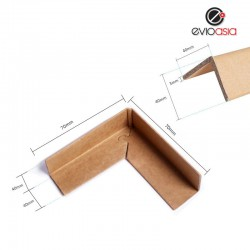 90 degree Corrugated Paper Lock Style Corner Protector Angel Corner Protector 70mm