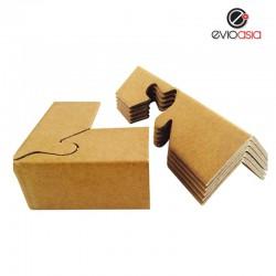 (12pcs) 90 degree Corrugated Paper Lock Style Corner Protector Angel Corner Protector 70mm