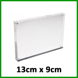 (13cm x 9cm) Evio Asia Clear Acrylic Sign Holder with Magnets, Magnet Enclosures