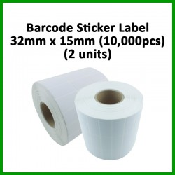 Evio Asia Barcode Blank Sticker Label (32mm x 15mm), 10000pcs