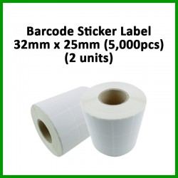 Evio Asia Barcode Blank Sticker Label (32mm x 25mm), 5000pcs