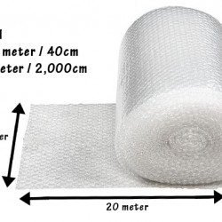 (40cm x 20m) Short Bubble Wrap Roll (Single Layer) for Fragile Packaging BP01