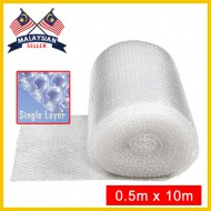 Single Layer Bubble Wrap Roll (0.5Meter x 10Meter)