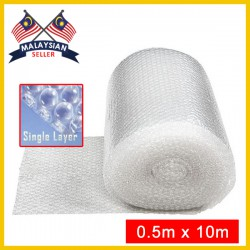 (0.5Meter x 10Meter) Evio Asia Single Layer Bubble Wrap Roll