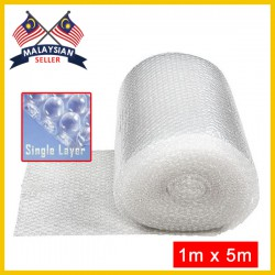 Single Layer Bubble Wrap Roll (1Meter x 5Meter)