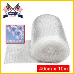 (40cm x 10m) Evio Asia Single Layer Bubble Wrap Roll
