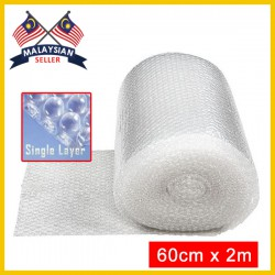 (60cm x 2m) Evio Asia Single Layer Bubble Wrap Roll