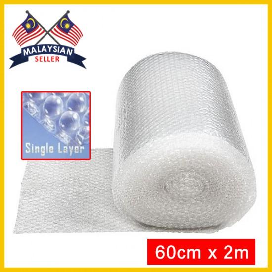 (60cm x 2m) Evio Asia Single Layer Bubble Wrap Roll