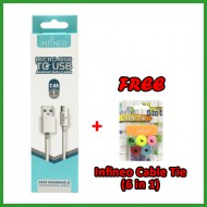 (FREE 6 in 1 Cable Tie) Infineo Micro USB to USB Android Data Cable (1 Meter)