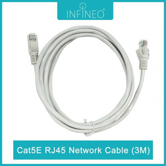 INFINEO Network Cable Cat5e RJ45 Ethernet LAN (3 meters)