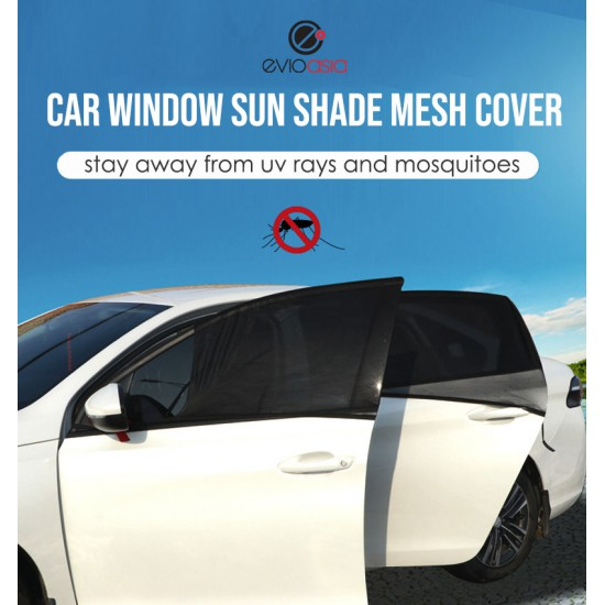 (2 PCS) Car Window Sun Shade Mesh Cover