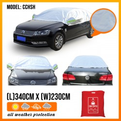 HALF Car Cover Rain Dust Sunlight UV Sunlight Resistant Protection (Model CCHSH)