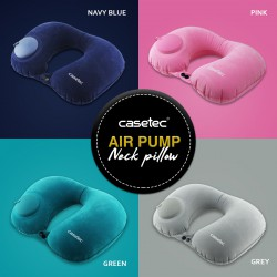 Casetec U-Shape Air Pump Inflatable Neck Pillow