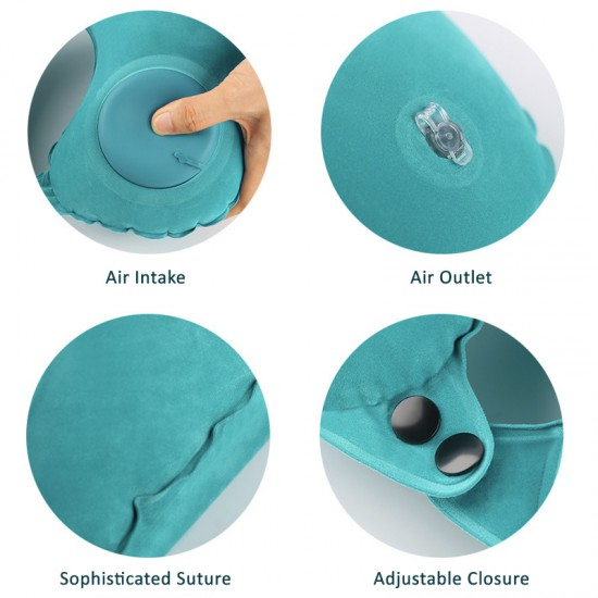 Casetec U-Shape Air Pump Inflatable Neck Pillow
