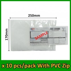 (10 pcs/pack) Evio Asia A5 size Consignment Note Pocket with PVC Zip