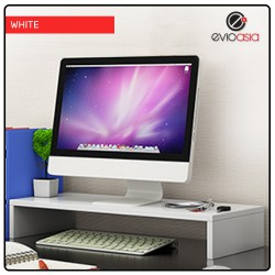 Wood Computer Monitor Stand Riser and PC Screen TV Riser for Home Office-Single Layer