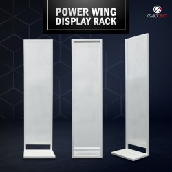 In-Store Retail Power Wing Sidekick, Display Rack, Display Standee