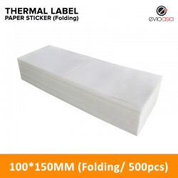 Folding Thermal Label Paper Sticker 100mm x 150mm (500pcs)