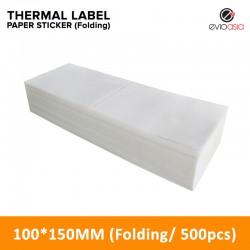Folding Thermal Label Paper Sticker 100mm x 150mm (500pcs)