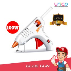 Heavy Duty Hot Glue Gun with Built-In Metal Stand 100W + FREE 3Pin Adapter