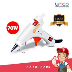 Heavy Duty Hot Glue Gun with Built-In Metal Stand 70W + FREE 3Pin Adapter