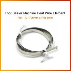 700mm x 5mm Foot Sealer Machine Heat Wire Element (Flat Wire)