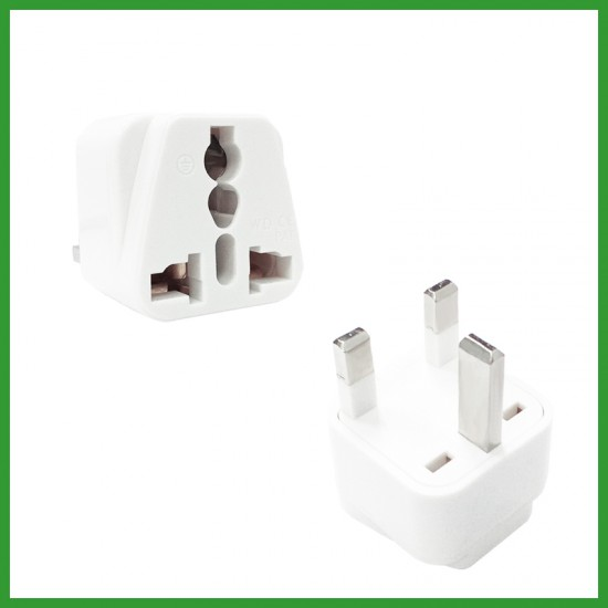 INFINEO Travel Adapter AU US EU To UK Adapter Converter 3 Pin Plug