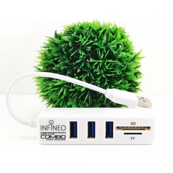 Infineo Combo USB Hub and Card Reader SD/TF card