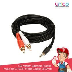Stereo Audio Male to 2 RCA Male Cable 3.5mm