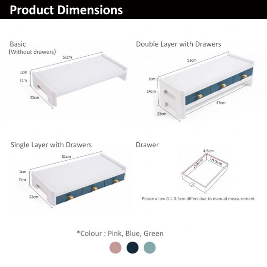 LS Series Desktop Organizer- Single Layer with Drawers