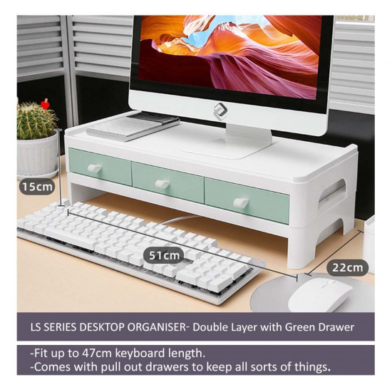 LS Series Desktop Organizer- Double Layer with Drawers