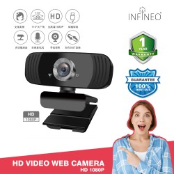 1080P Full HD Webcam USB Computer Laptop Driver-Free Web Camera with Mic