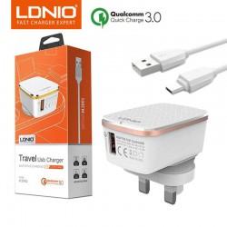 LDNIO QC 3.0 USB Wall phone charger 1 usb  UK