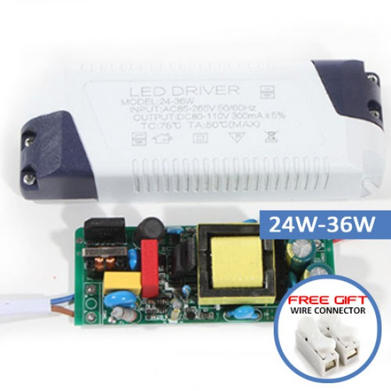 LED Driver Light Transformer Power Supply Adapter For Led Lamp-3W-36W
