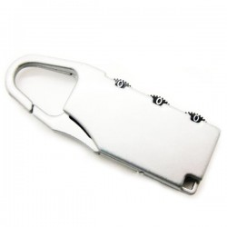 3 Digit Resettable Code Password Number Luggage Lock