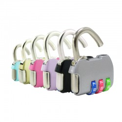 Luggage Lock Key with 3 Colourful Password Lock
