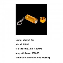 6000GS GOLD Magnetic Detacher Key For Anti Theft Stop Lock