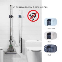 Lifestyle No Drilling Mop and Broom Holder