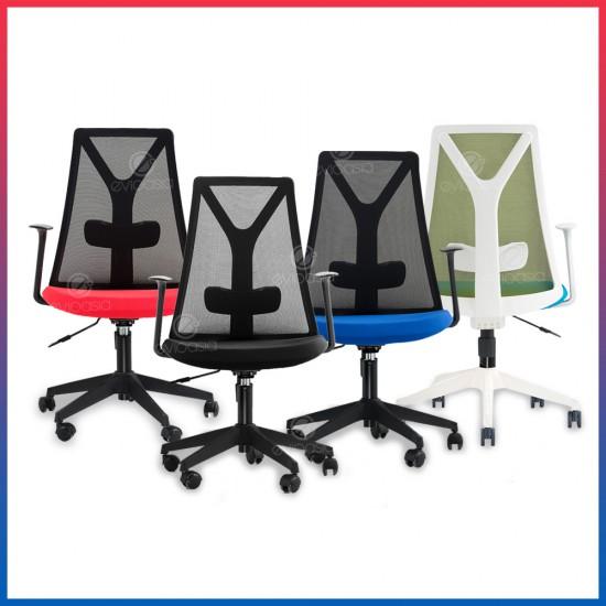 Evio Asia Ergonomic Mid-Back Mesh Office Chair (Model MC119)