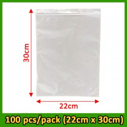 Pearl Film Self Sealing Bags( Size: 22cmx30cmx0.012mm) 100pcs/pack