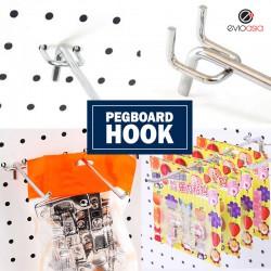 100mm Pegboard Hook Hanging Tool Storage Display (10pcs)