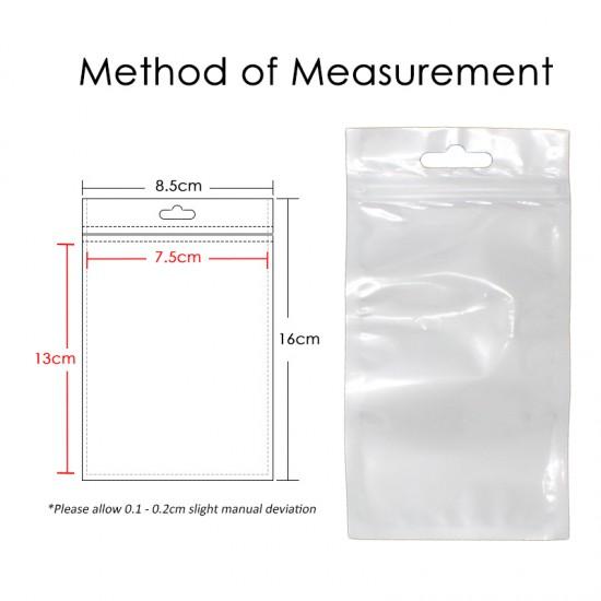 (8.5cm x 16cm) Clear White Plastic Bag Zip Lock Pouch Packaging / Plastik Beg (10pcs=1pack)