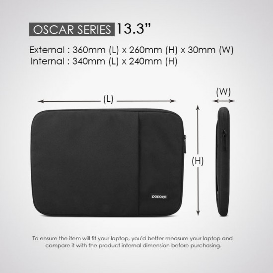 "POFOKO Oscar Series Laptop Sleeve 13.3"",14"",15.6"""