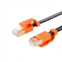 Powersync Cat 7 SuperSpeed Flat Cable for Network (Black)