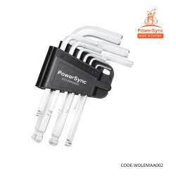 PowerSync 9 Pcs Extractor Hex Key Ball Point Wrench Set