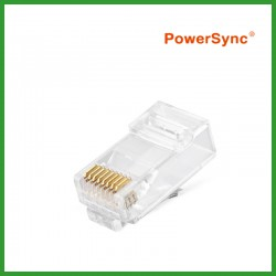 PowerSync CAT 6 Modular Plug Socket Network Ethernet Crystal Plug RJ45 8P8C (100pcs)