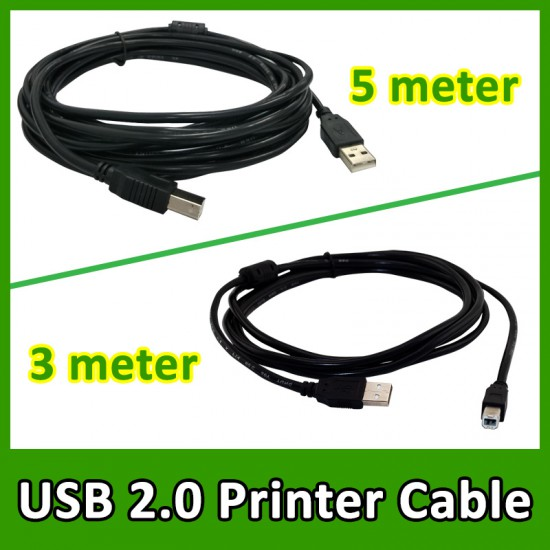 USB 2.0 High Speed Printer Cable A to B Male