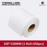 Thermal Label Sticker Roll 100mm x 150mm (350pcs)