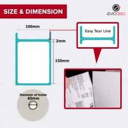 Thermal Label Sticker Roll 100mm x 150mm (500pcs)