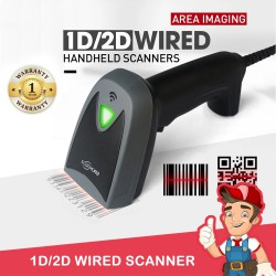 Wired Scanner 1D & 2D Barcode Scanner